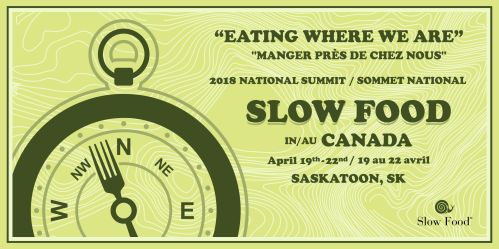 2018 Slow Food of Canada Summit Ticket Banner